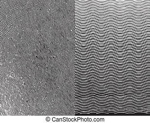 gravura, texture., vetorial, ilustração