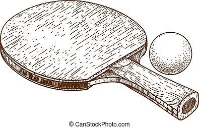Balle grunge fond tennis ping pong raquette table - Dessin tennis de table ...