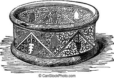 gravure, vendange, Gaulois,  bracelet