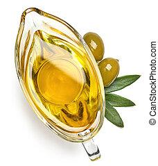 Gravy boat of extra virgin olive oil