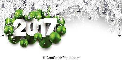 Gray 2017 New Year banner.