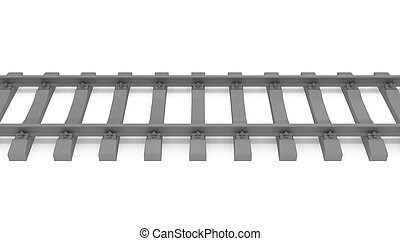 gray 3d rails horizontal isolated on white background top...