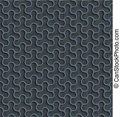 Gray 3d Seamless Web Geometric  Pattern.