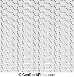 Gray 3d Seamless Web Hexagon Pattern.