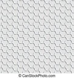 Gray 3d Seamless Web Hexagon Pattern.