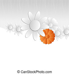 gray abstract flowers background