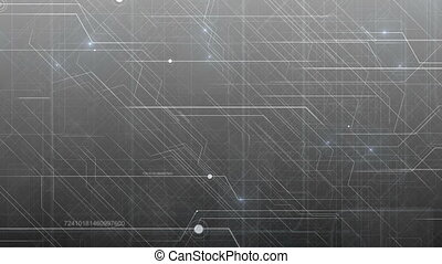 Gray Abstract Hi-Tech Technology Pattern.