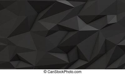 Gray abstract low poly triangle background