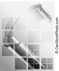 Gray abstract tech background