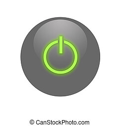 Gray activate button - Gray gloss activate button for web...