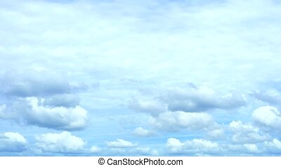 gray and blue sky and white gray heap cloud moving time lapse