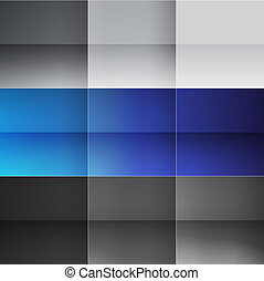 Gray and blue squares abstract background