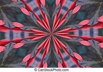 Gray and pink design - A kaleidoscopic pattern of grey and ...