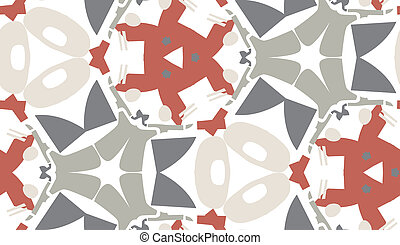 Gray and Red Wallpaper Pattern