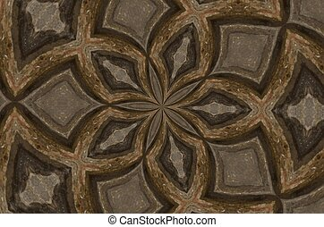 Gray and tan kaleidoscope pattern - A mix of gray and tan ...