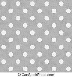 Gray and White Large Polka Dots Pattern Repeat Background ...
