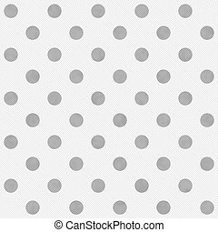 Gray and White Large Polka Dots Pattern Repeat Background...