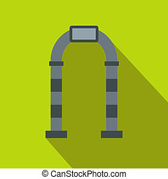 Gray arch icon, flat style
