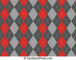 Gray argyle seamless pattern