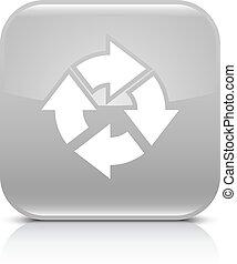 Gray arrow repeat, reload, refresh, rotation icon