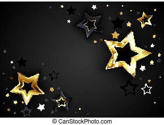 Gray background with black stars
