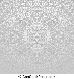 gray background with decorations