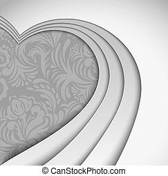 Gray background with heart