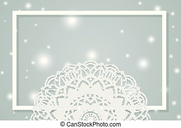 Gray background with mandala patterns