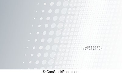 gray background with white halftone pattern design