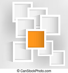 gray background with white vector abstract rectangles
