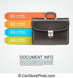 Gray bag business info