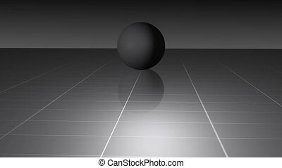 gray ball on the grid