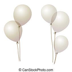 ballon - gray ballons on the white background, celebration ...
