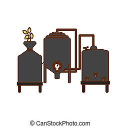gray beer tanks icon image design, vector illustration