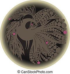 gray bird silhouette in a circle