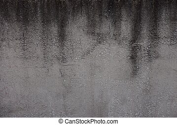 gray black stone background of soot on the old concrete wall