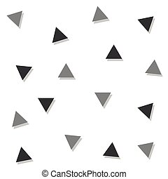 Gray Black Triangle Abstract White Background