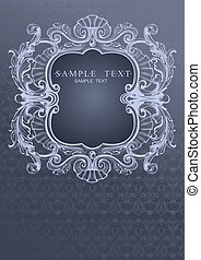 Gray Blue High Ornate Cover