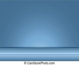 gray blue light rays room studio background vector