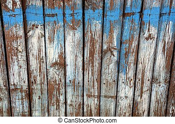 gray blue texture of an old wooden fence