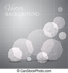 Gray blueprint if geometrical figure