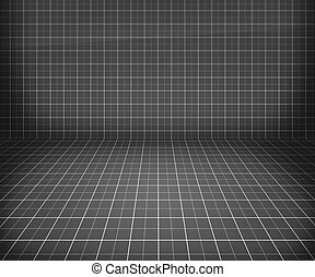 Gray Blueprint Stage Background