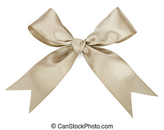 Gray bow isolated on white