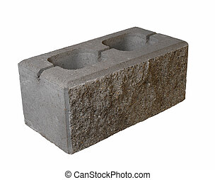 brick - gray brick on white backround