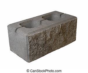 brick - gray brick on white backround