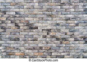 Gray brick wall
