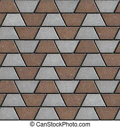 Gray-Brown Paving Slabs in the Form Trapezoids.