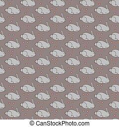 Gray bunnies in love