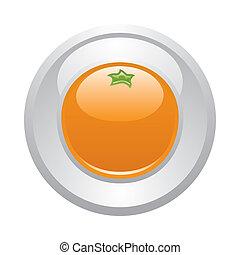 Gray button Orange, vector