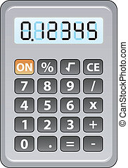 gray calculator - vector gray calculator